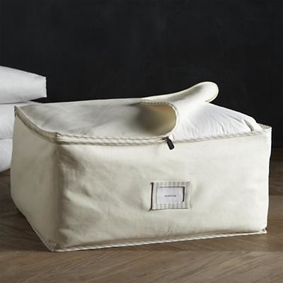 Twill Large Storage Bag with Ticking contemporary-closet-storage