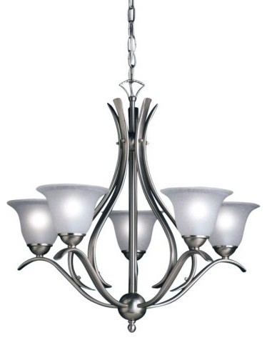 Kichler Dover Chandelier - 24W in. Brushed Nickel contemporary-chandeliers