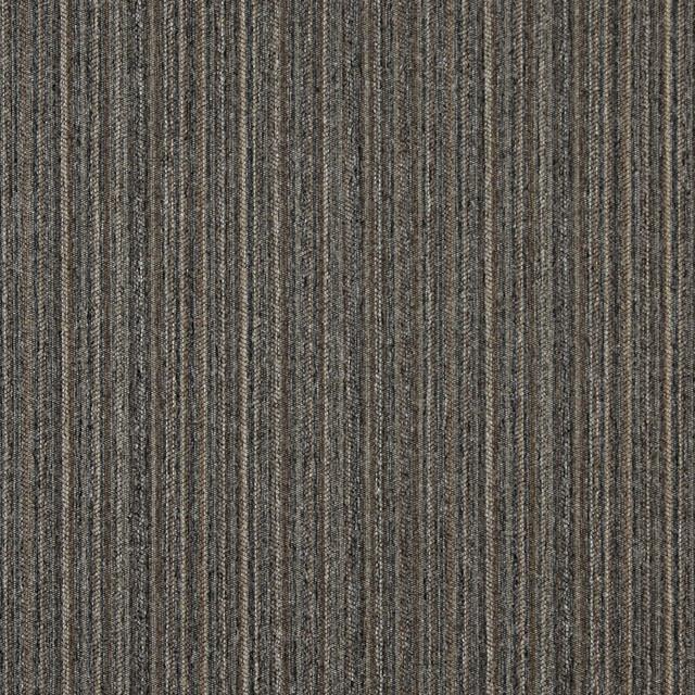Brown Blue Beige Vertical Striped Country Tweed Upholstery