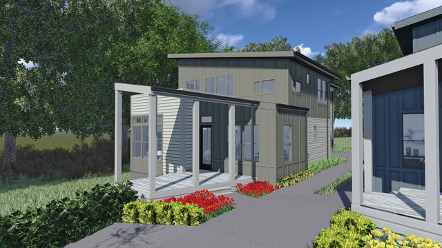 East Nashville Houses on Eastland contemporary-rendering