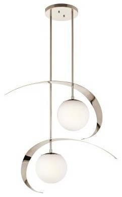 Kichler Escala 2 Light Pendant - 14W in. Polished Nickel modern-ceiling-lighting