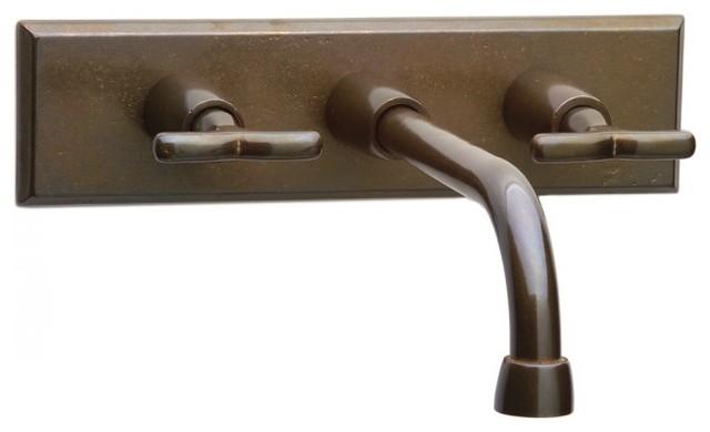 Rocky Mountain Hardware Wall Mount Faucet Rectangular