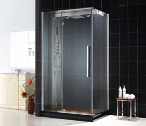 Majestic Steam Shower Enclosure with Left-Wall Installation modern-showerheads-and-body-sprays