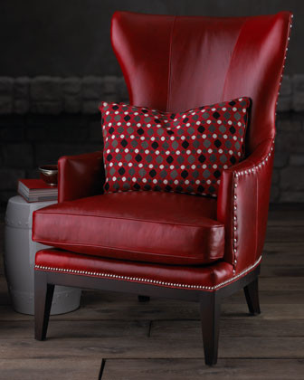 DONOVAN RED WING CHAIR traditional-living-room-chairs