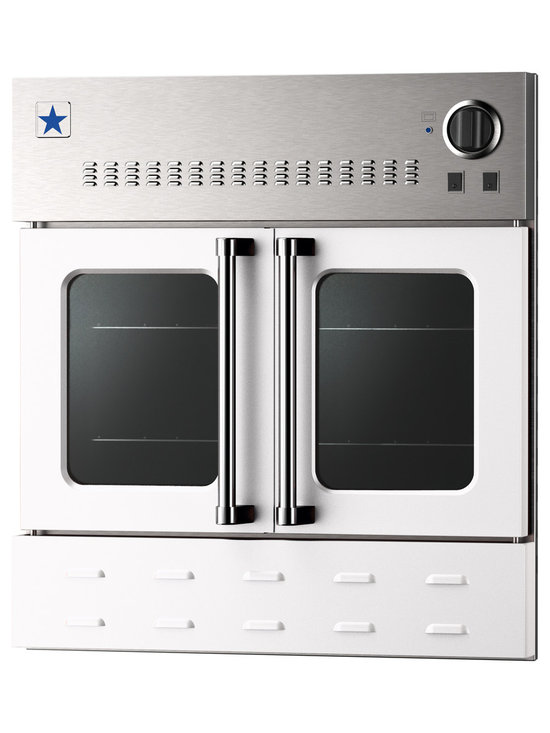 "BlueStar 36"" Single Wall Oven- Gas Oven - Signal White (RAL 9003)"