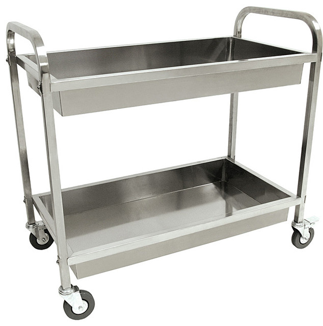 Bayou Classic Stainless Steel Serving Cart Contemporary
