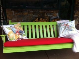 Swing and Glider Cushions outdoor-pillows
