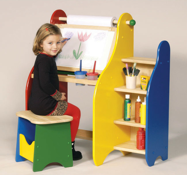 Guidecraft Art Activity Desk Contemporary Kids Desks