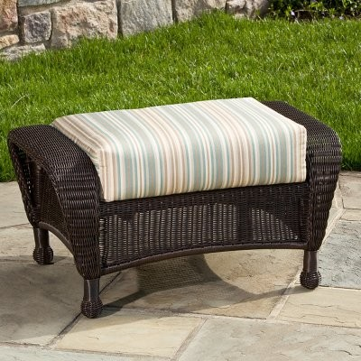 Alfresco Home Amelia Deep Seating All-Weather Wicker Ottoman modern-footstools-and-ottomans