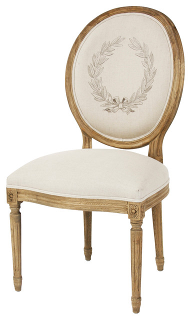 Medallion Side Chair, Natural, Reclaimed traditional-dining-chairs