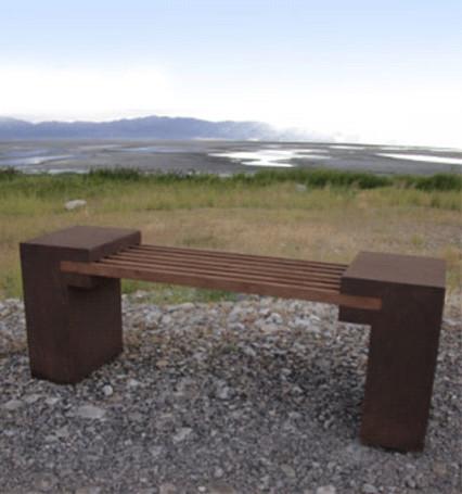 Bridge Bench contemporary-outdoor-benches