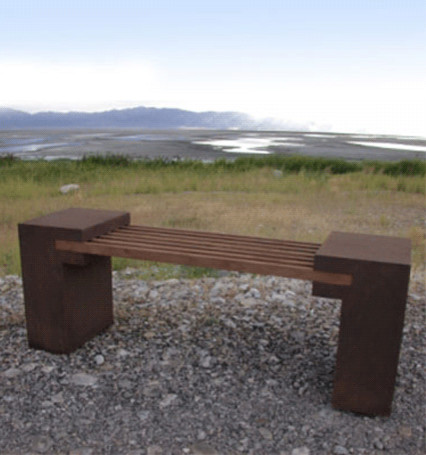 Bridge Bench contemporary-outdoor-stools-and-benches