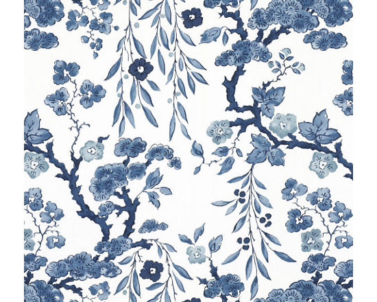Tabley House Floral Wallcovering, Porcelain -