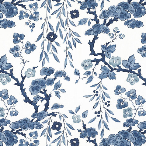 Tabley House Floral Wallcovering, Porcelain - Traditional - Wallpaper ...