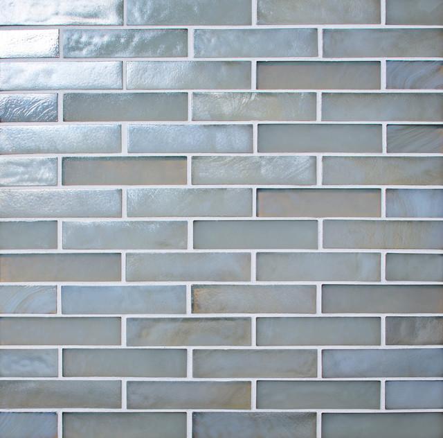 Artistic Tile Oceanside Blue Collection - Stone Rectangle Mosaic tile