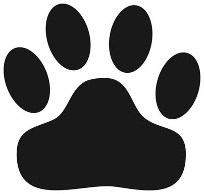 Wild Cat Paw Print Stencil - Contemporary - Wall Stencils - by Stencil Ease