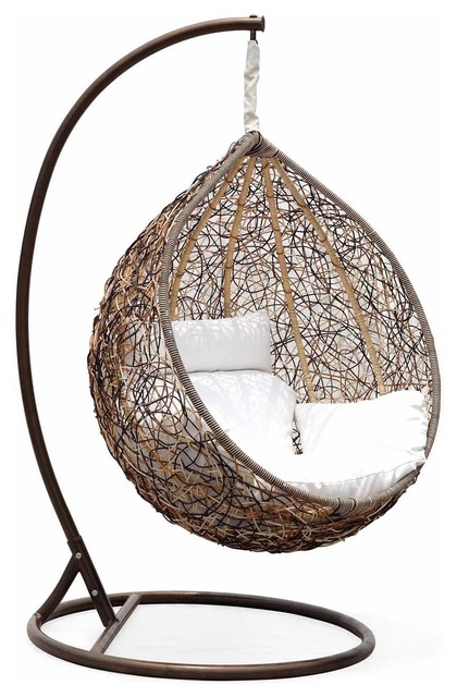 Trully Outdoor Wicker Swing Chair The Great Hammocks Contemporary Hammoc