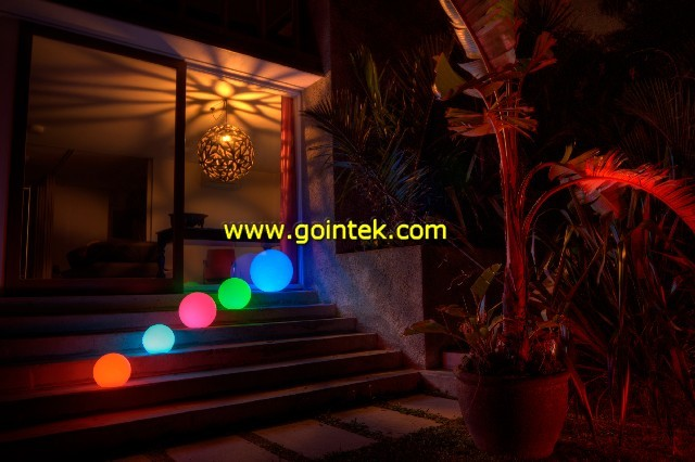 Led hanging ball lights Sophisticated outdoor christmas decorations