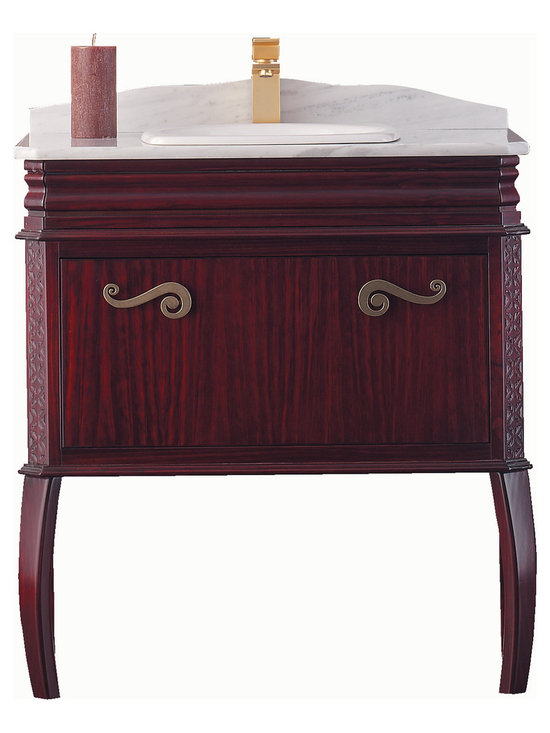 "Macral London 32"" windwood vanity. Mahogany. -"