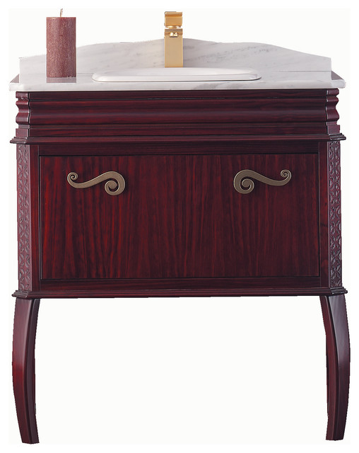 "Macral London 32"" windwood vanity. Mahogany. traditional-bathroom-vanities-and-sink-consoles"