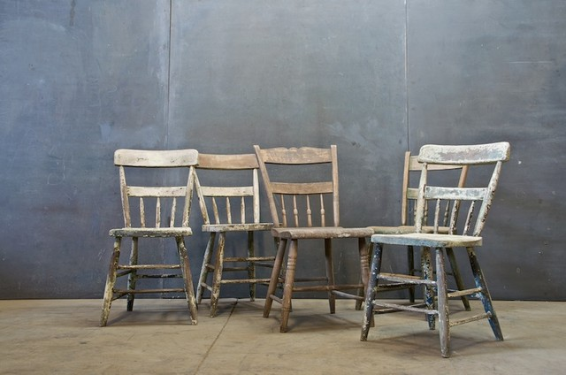 Belgium Primitive Farmhouse Chairs eclectic-dining-chairs
