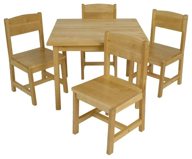 Tino farmhouse table w chairs by kidkraft modern kids - Set table enfant ...
