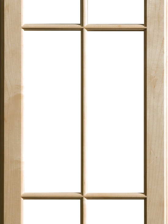 """Dura Supreme Cabinetry - Dura Supreme Cabinetry Mullion Patter #4 Accent Cabinet Door - Dura Supreme Cabinetry """"Mullion Patter #4"""" accent cabinet door shown in Maple with Dura Supreme's """"Natural"""" finish."""