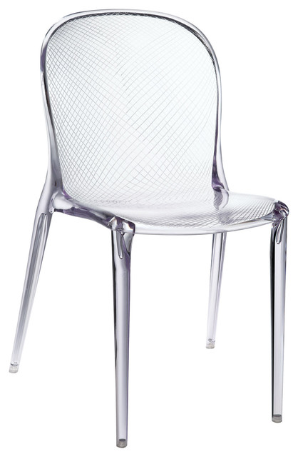 Scape Dining Side Chair in Clear modern-dining-chairs