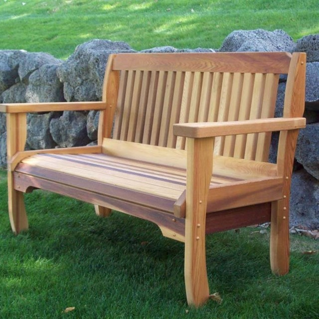 cabbage hill cedar garden bench traditional indoor benches philadelphia by