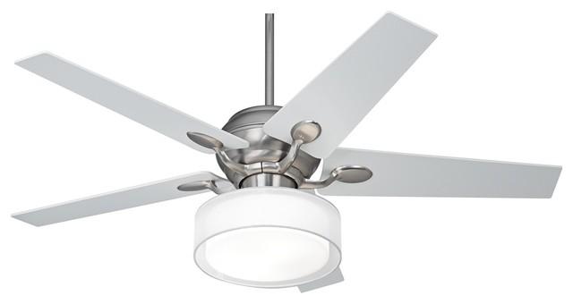 "Art Deco 52"" Casa Optima™ Steel Ceiling Fan Drum Shade"
