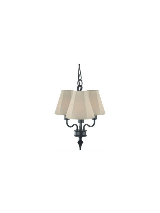 Royce Lighting - Saltillo 3 Light Outdoor / Indoor Chandelier Black - Three Light Chandelier Black :chandelier consists of a durable construction and sleek black copper finish. It features an elegant design and unique black crystal detail.