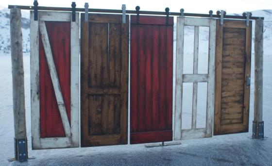 Barn Door and Barn Door Hardware Combo contemporary