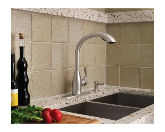 Moen Varese Spot resist stainless one-handle high arc pullout kitchen faucet - From finishes that are guaranteed to last a lifetime, to faucets that perfectly balance your water pressure, Moen sets the standard for exceptional beauty and reliable, innovative design.