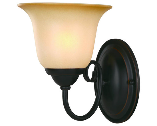 Oil Rubbed Bronze 1 Light Wall Sconce / Bathroom Fixture - Finish: Oil Rubbed Bronze