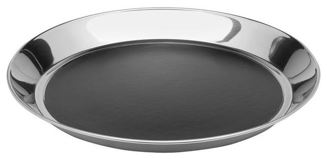 Hourglass 14 Inch Stainless Steel Serving Tray modern-serving-trays