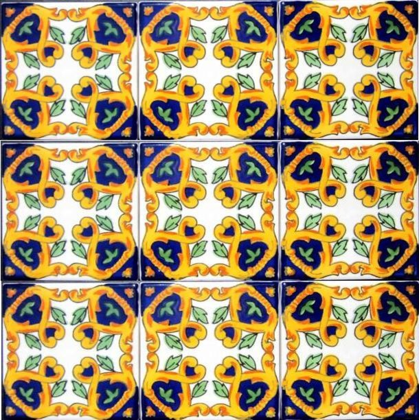 "Hand Painted 4"" x 4"" Decorative Ceramic Tiles mediterranean-tile"