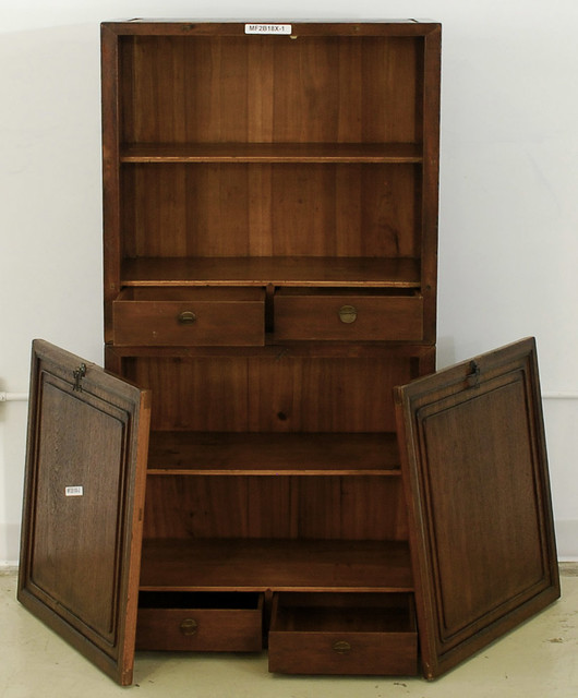 Chinese Antique Book Cabinet - Asian - Bookcases - new ...