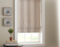 French Stripe Cordless Roman Shade traditional-roman-shades