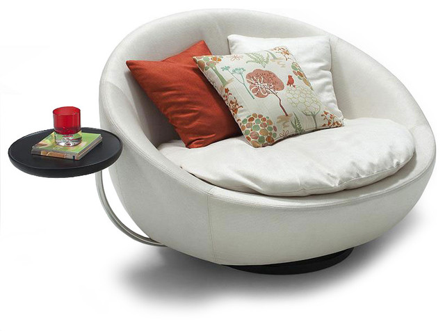 Swan chair moss studio - Modern Fabric Round Lounge Chair Alan Modern Armchairs
