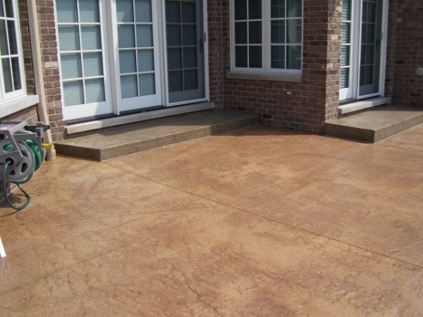 Stamped concrete patio lastiseal concrete stain sealer for How to clean outdoor stained concrete