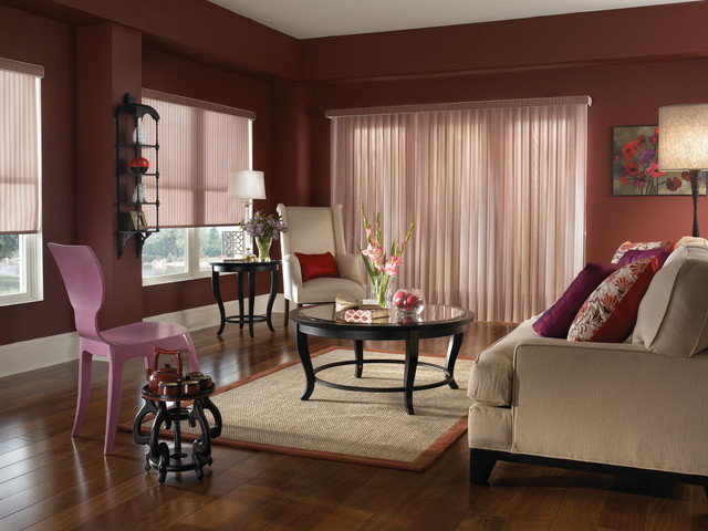 Ballet Vertical Sheer Drapes by Comfortex modern-cellular-shades