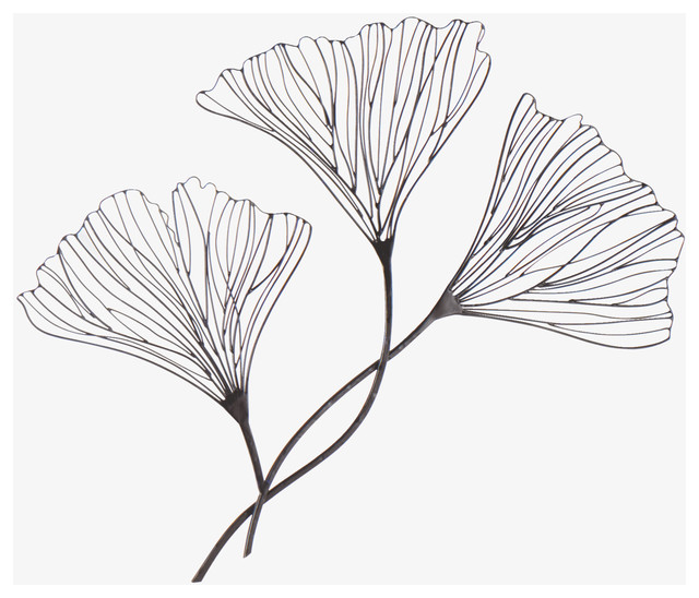 Fielding Floral Wire Wall Decoration Contemporary Artwork By
