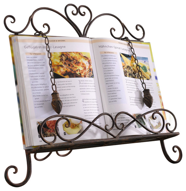 Antique Metal Cookbook Stand ~ Book Holder ~ Easel w/ Weighted Chains #HD224257 - Traditional ...