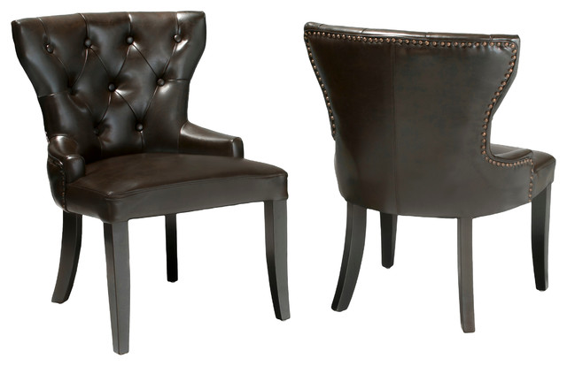 Kingslee Leather Accent Chairs (Set of 2) - Contemporary - Chairs - by