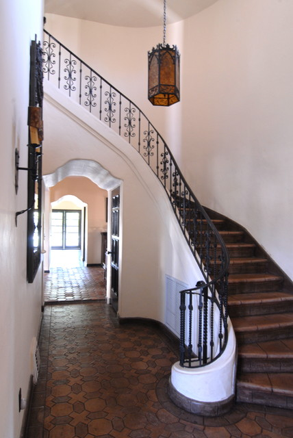 Hollywood Spanish Colonial Restoration - Mediterranean - Staircase ...