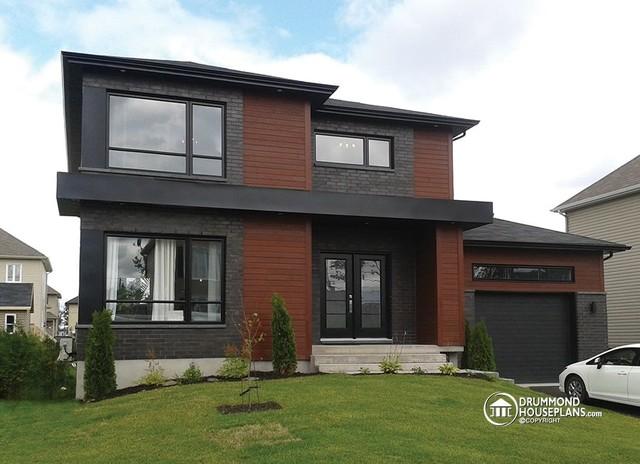 Contemporary Home - Modern House Plan no. 3713-V1 by Drummond House Plans contemporary-exterior