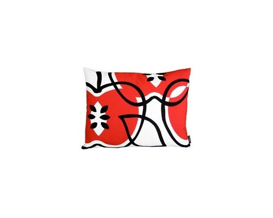 notNeutral Apples Throw Pillow - The Apples Pillow by notNeutral will add zing and dash to any room. Use it as a boudoir pillow to give your bed a modern twist, or a fun pillow in any room.