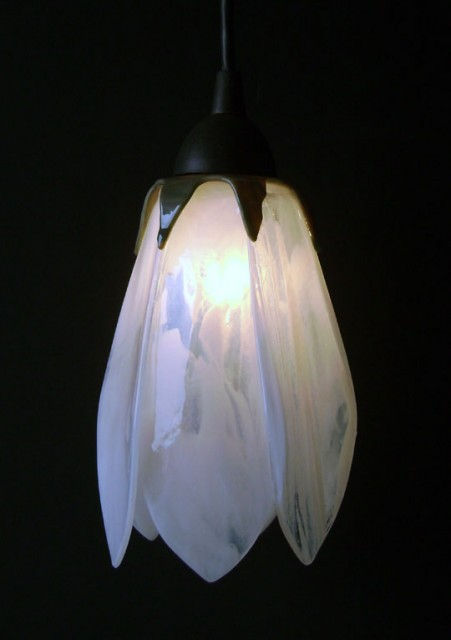 Glass Pendant Lights - Tulip Shaped traditional pendant lighting