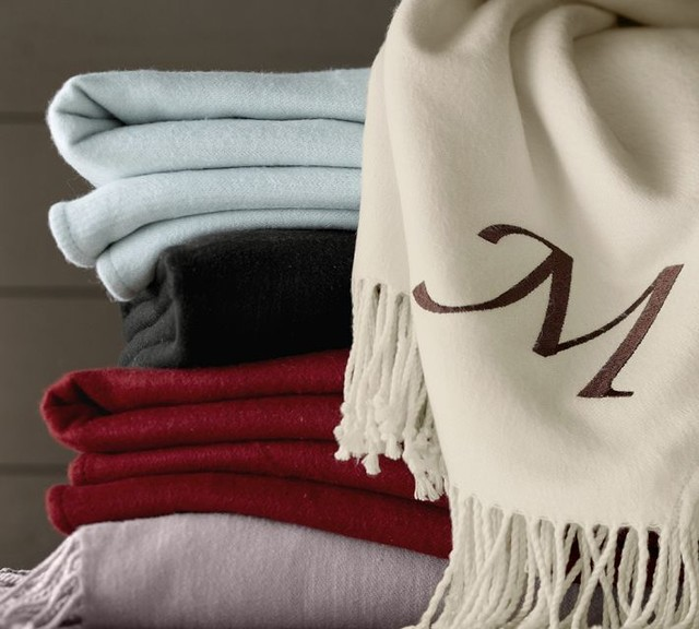 Monogrammable Throw traditional throws