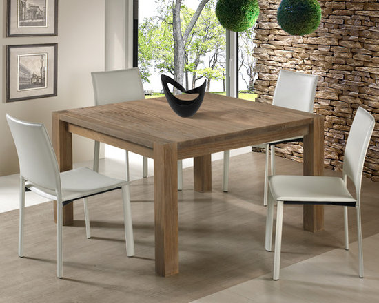 "LINEAR dining and living - Linear - dining tables 47""; matching bench"